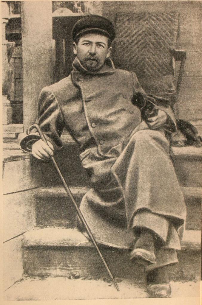 Чехов в Мелихове с таксой Хиной