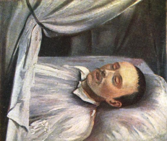 Роберт Шведе. М. Ю. Лермонтов на смертном одре. 1841г.