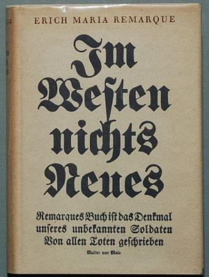 Обложка первого издания романа «На Западном фронте без перемен»