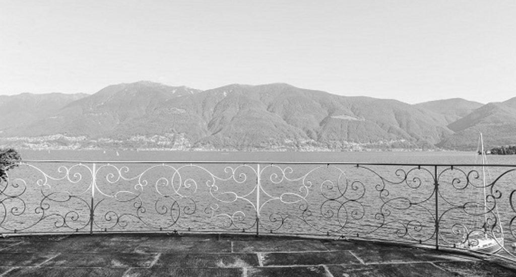 Вид с балкона усадьбы Ремарка в Швейцарии