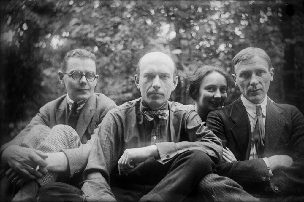 Сергей Топленинов, Николай Лямин, Любовь Белозерская, Михаил Булгаков. Не позже 1931