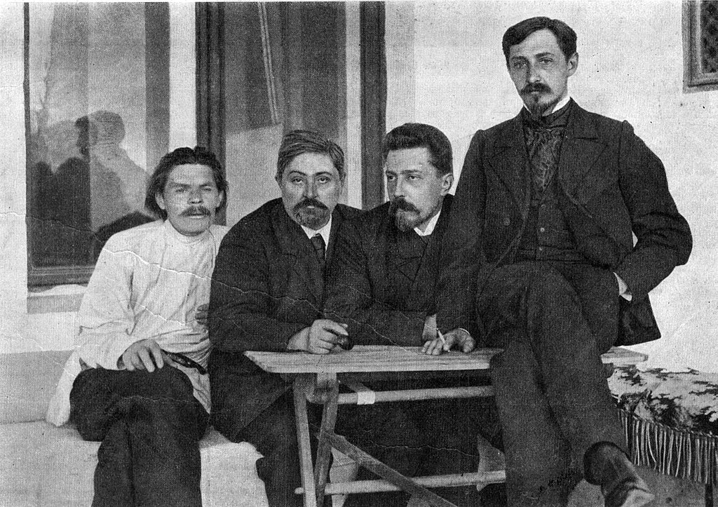 М. Горький, Д.Н. Мамин-Сибиряк, Н.Д. Телешов и И.А. Бунин. Ялта, 1902 г.