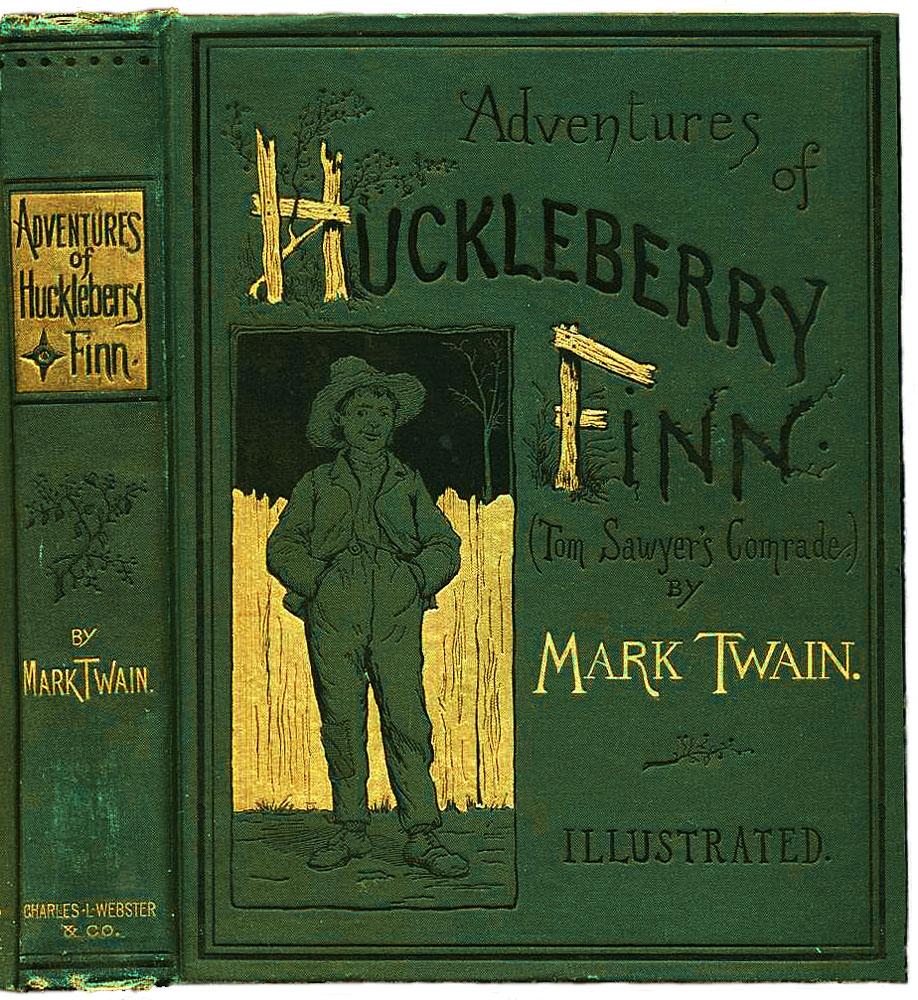 Обложка книги Марка Твена «Приключения Гекльберри Финна»