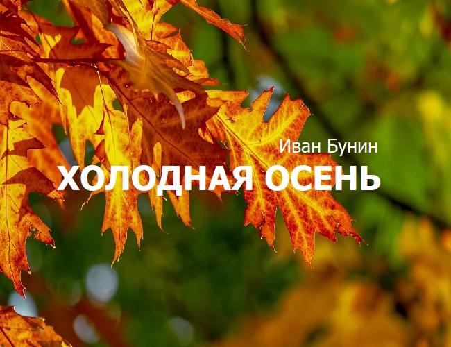 холодная осень бунин